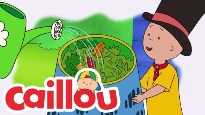 Caillou Can Compost (Ecology Club: Earth Month!) | Cartoon for Kids | GOB TV